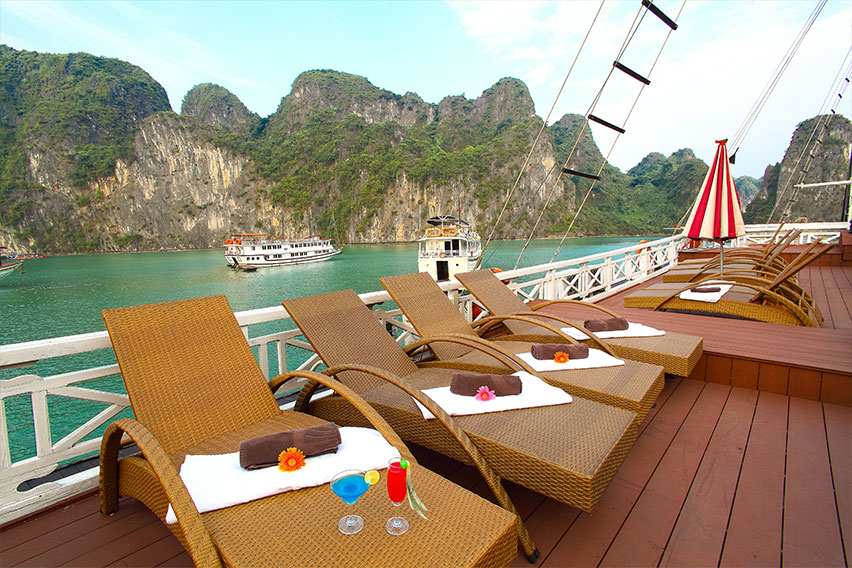 Halong Sun Legend Cruise-Sundeck