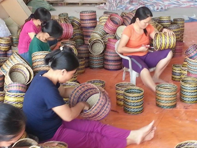 Kim Son sedge mat weaving village