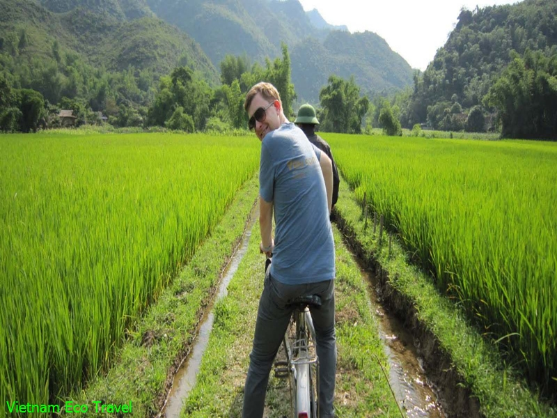 Biking in Hoa Lu Tam Coc