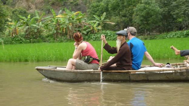Boating at Tam Coc River